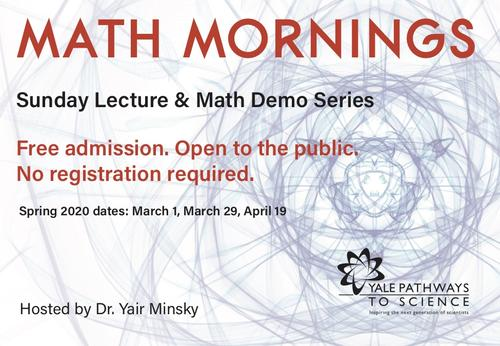 Math Mornings, Sunday Lecture and demo series